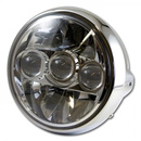 LED-Scheinwerfer 7, FARGO British Style, chrom,...