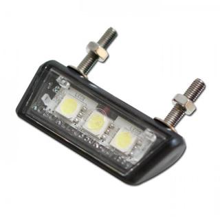 LED-Kennzeichenbeleuchtung Nano schwarz E-geprüft Motorrad inkl Halter