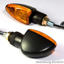 Mini- Blinker ARROW schwarz lange Version gelbes Glas...