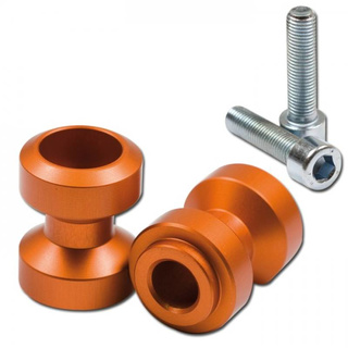 Bobbin s, MP, M10 (1.5), elox., orange, Ø=24,5mm, VPE = 2 Stück  *** z.B. KTM ***